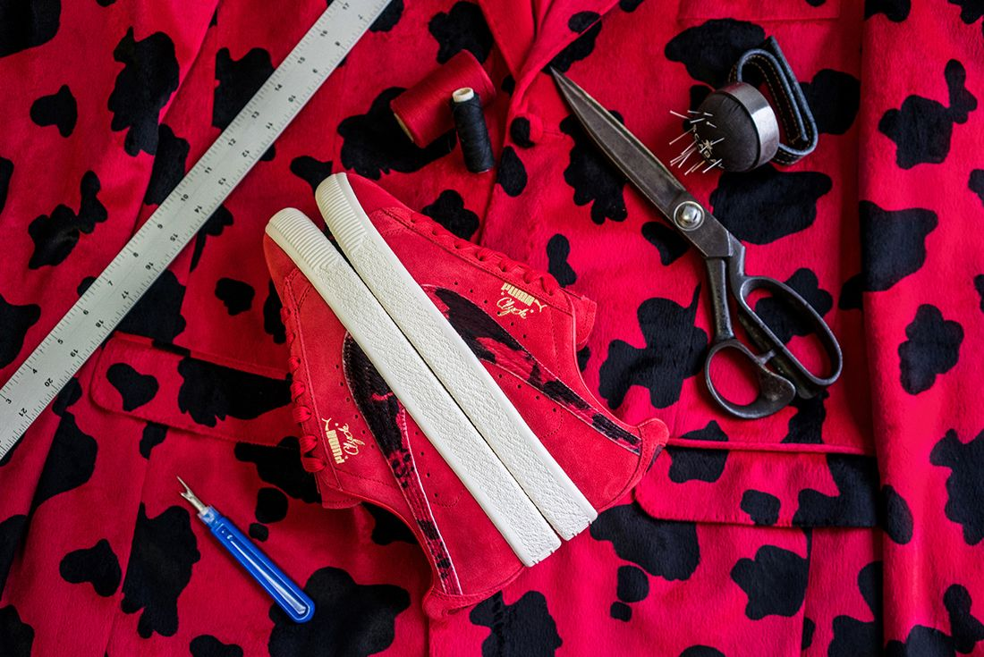 Packer X Puma Clyde Cow Suits Pack4