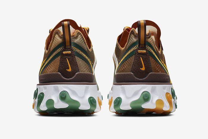 Nike React Element 87 Orange Peel Release Date Heel