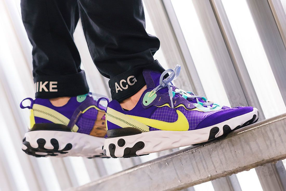 Bespoke Ind Nike React Element 87 Acg On Foot 1