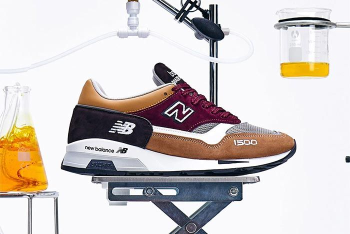 New Balance 1500 Sample Lab Brown Red Lateral Side Shot