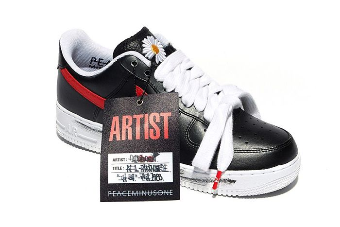 G Dragon Peaceminusone Nike Air Force 1 Low Red Korea Exclusive Release Date Hangtag