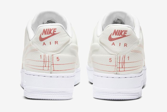 Nike Air Force 1 Low Schematic White Heel