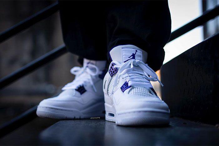 Air Jordan 4 Court Purple Stairs Toe