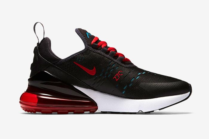 Nike Aur Max 270 Black Red 5