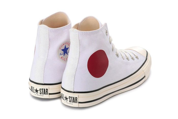 Converse Chuck Taylor All Star Us Originator Hinomaru Hi Release Japan Rear Angle