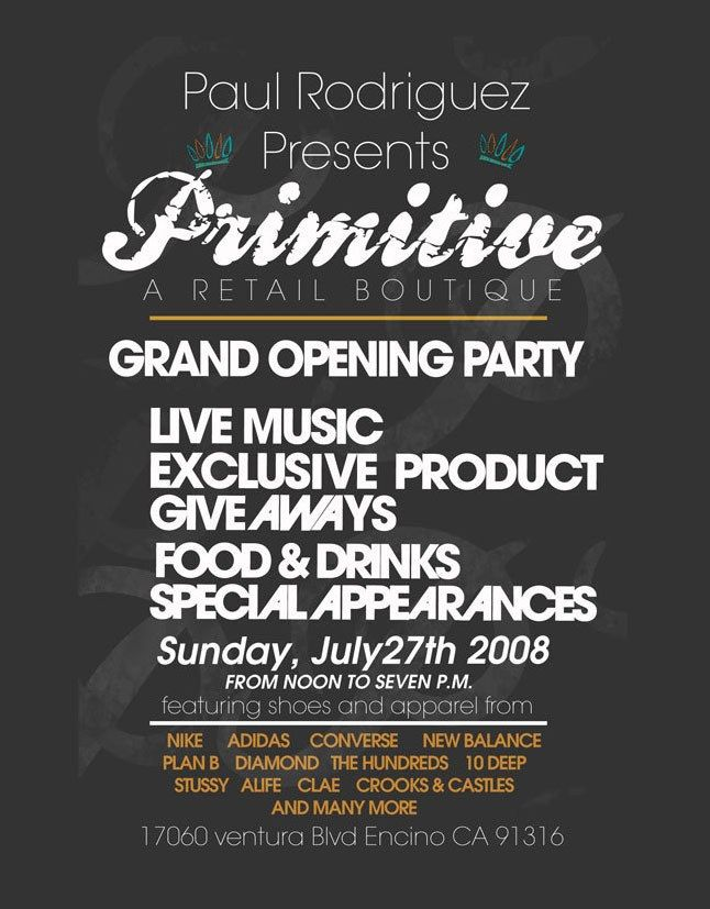 P Rod Presents Primitive Store Opening 1