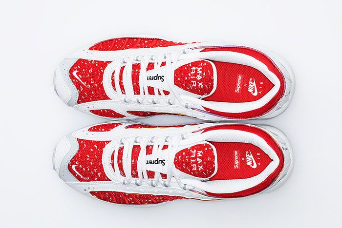 Supreme Nike Air Max Tailwind 4 Red White Release Date Top