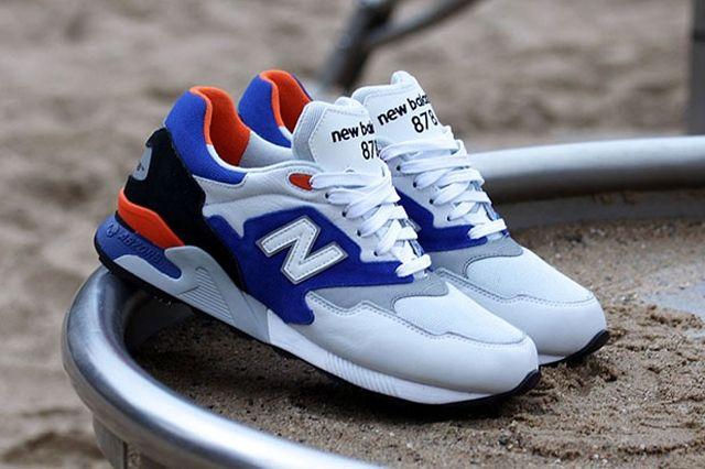 New Balance Ml 878 White Blue Orange 2