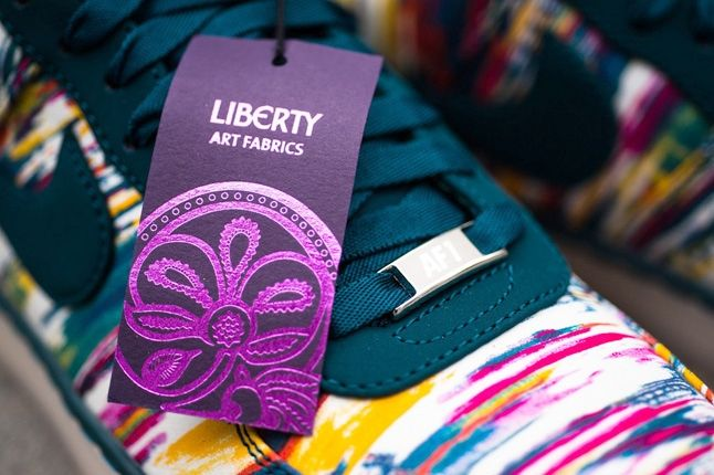 Liberty London Nike Air Force One Downtown Midnight Turquoise 7