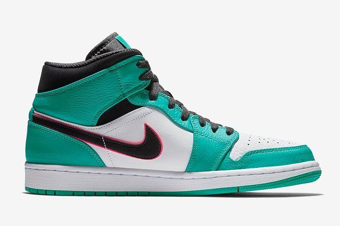 Air Jordan 1 Mid South Beach Turbo Green 852542 306 Release Date 2