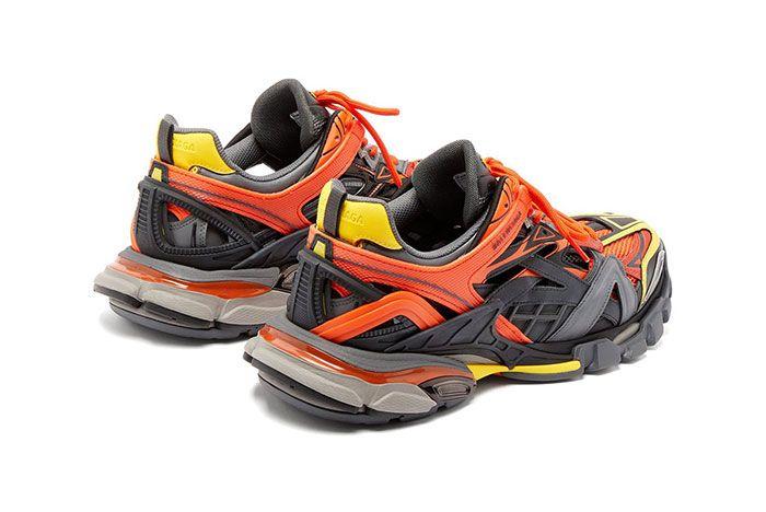 Balenciaga Track 2 Orange Yellow Heel
