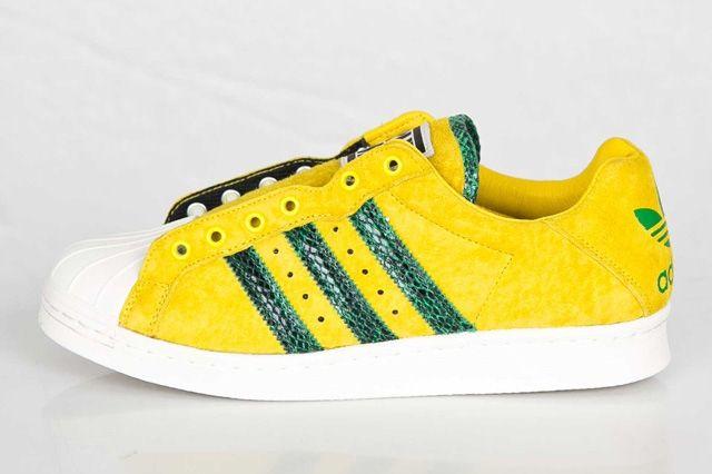 Adidas Ultrstar 80S Yellow Green 1
