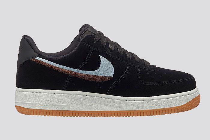 Nike Air Force 1 Lux Black Suede