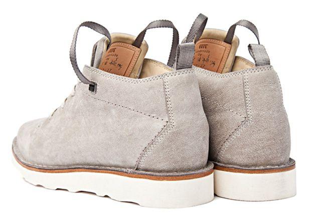 Feit Kudu Stitchdown Grey Heel 11