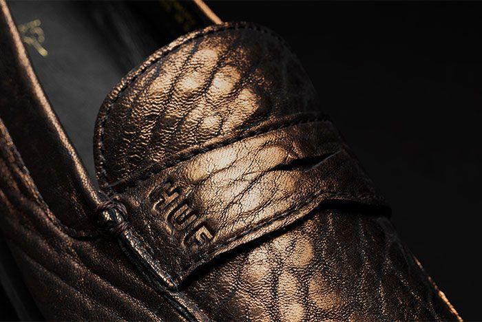 Huf Dylan Driver Metallic Leather Dylan Rieder Close Up Huf Branding