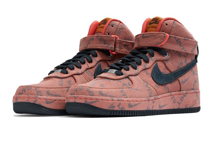 Levis X Nike Air Force 1 Mid Front Angle