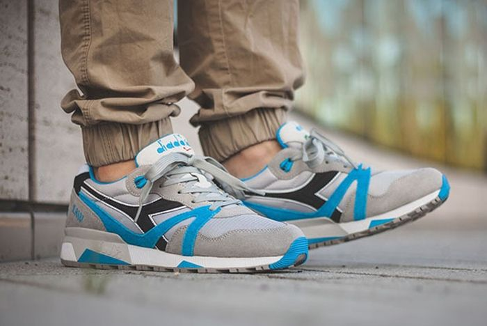Diadora N9000 Grey Skydiver Blue 4