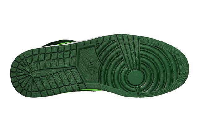 Jordan 1 Mid Electric Green Sole 1