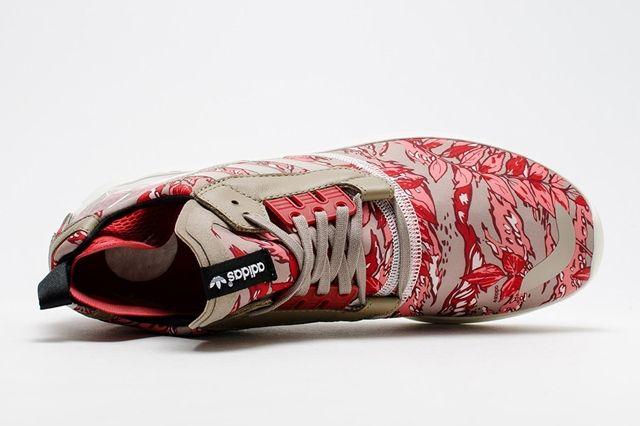 Adidas Zx 8000 Boost Hawaiian Floral Red 4