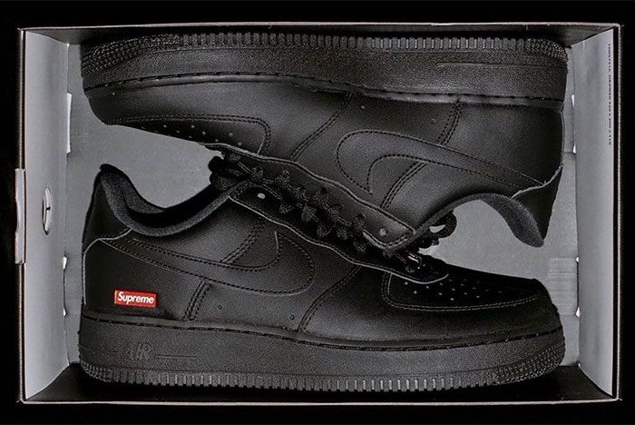 Supreme Nike Air Force 1 Black Cu9225 001 First Look Reveal