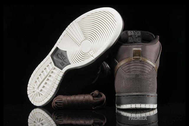Nikesb Dunk Hi Pro Baroque Brown Dark Khaki 5
