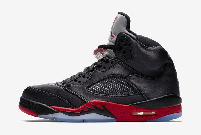 Air Jordan 5 Black Satin Official 2