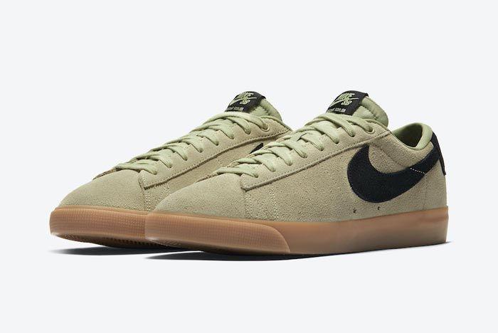 Nike Sb Blazer Low Olive Aura Pair
