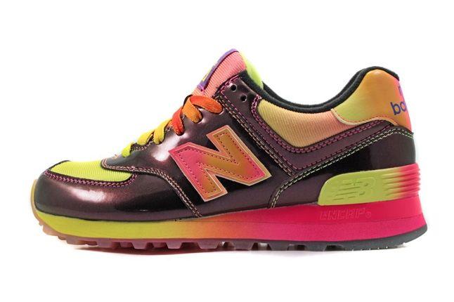 New Balance 574 Rainbow Pack Pink Profile 1