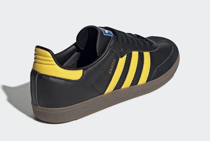 Adidas Samba Black Yellow Heel