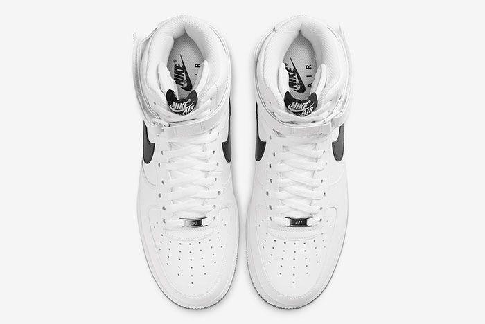 Nike Air Force 1 High White Black Ck4369 100 Top