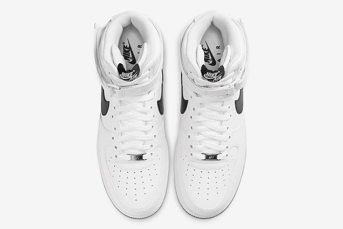 Nike Air Force 1 High White Black Ck4369 100 Top