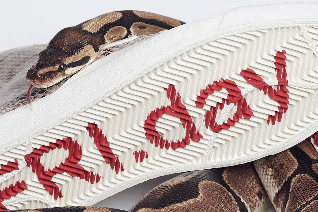 Soulland Nike Sb Blazer Snake Snakeskin Sole Close Up