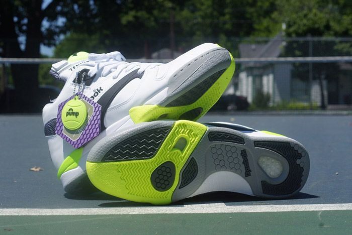 Reebok Court Victory Pump White Black Solar Yellow 1