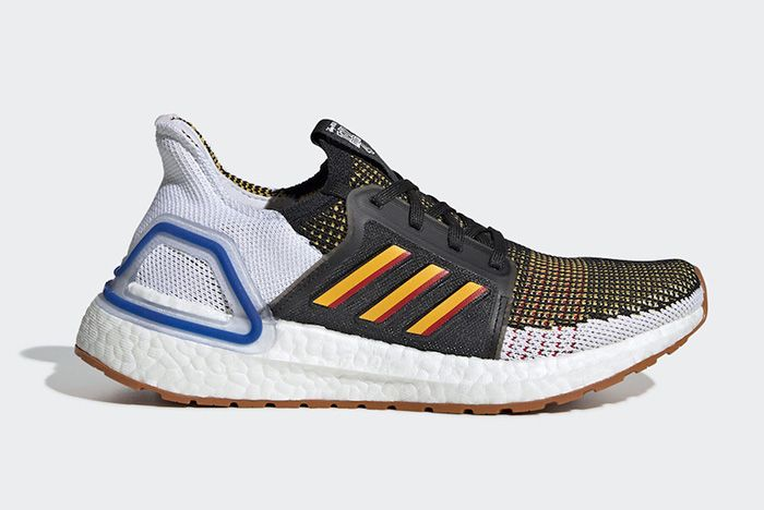 Adidas Ultraboost Core Black Active Gold Scarlet Right Side Shot
