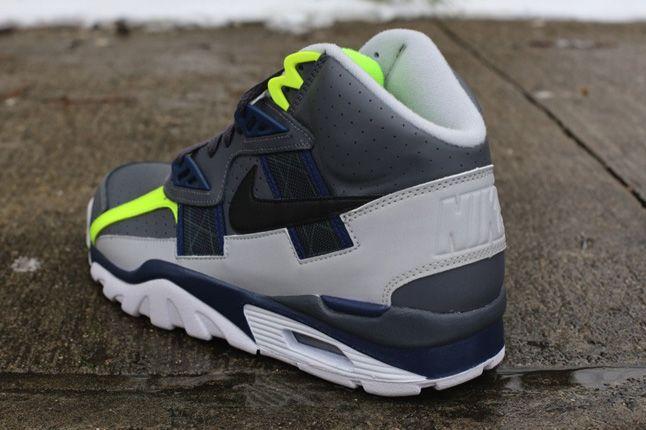 Nike Air Trainer Sc High Neon Grey Heel 1