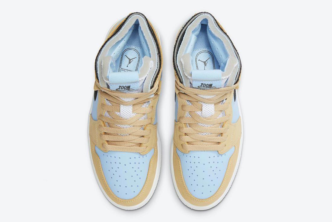 Air Jordan 1 Zoom Comfort Psychic Blue/Black/White/Sesame