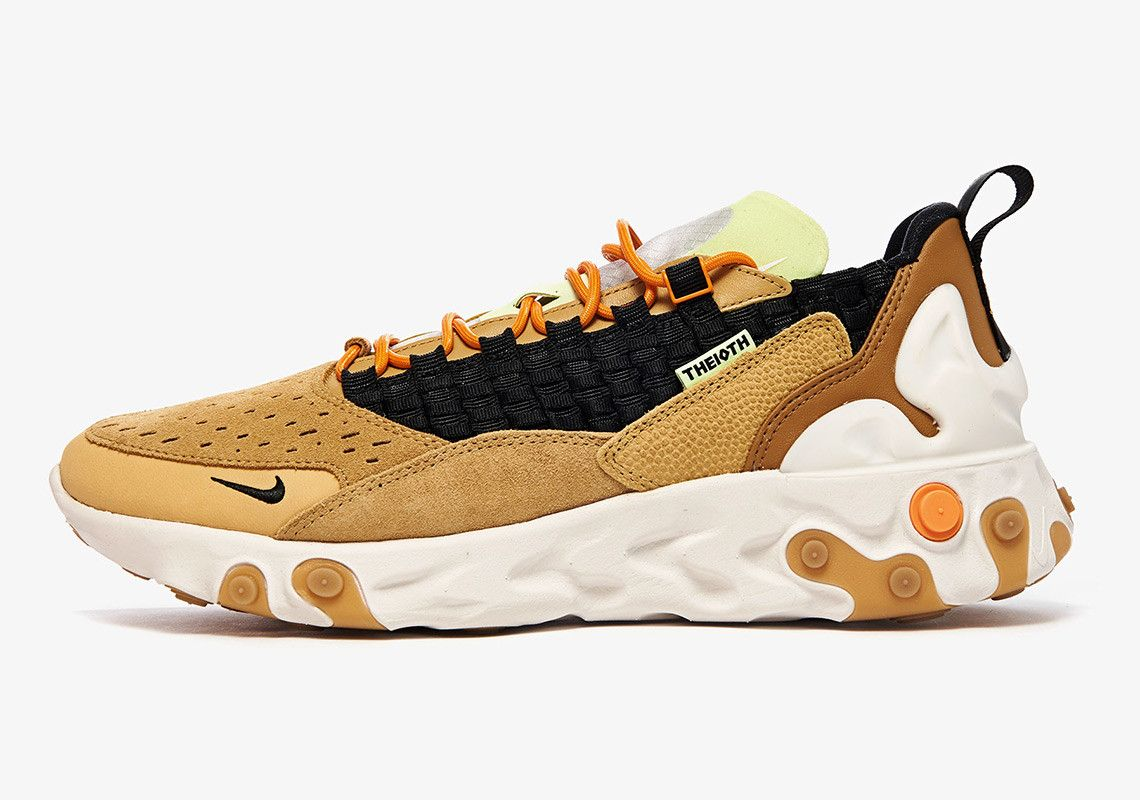 Nike React Sertu At5301 700 Club Gold Black Wheat Bright Ceramic 1 Side