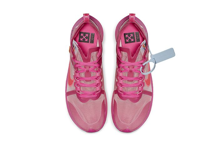 Off White Nike Zoom Fly Sp Black Pink Official 8