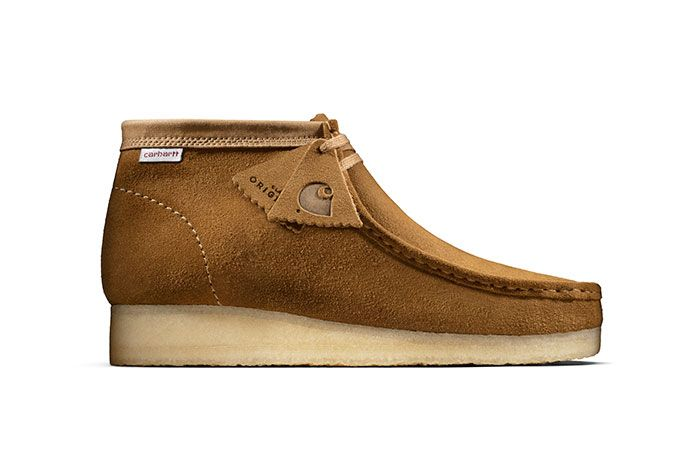 Carhartt Clarks Wallabee Brown Lateral
