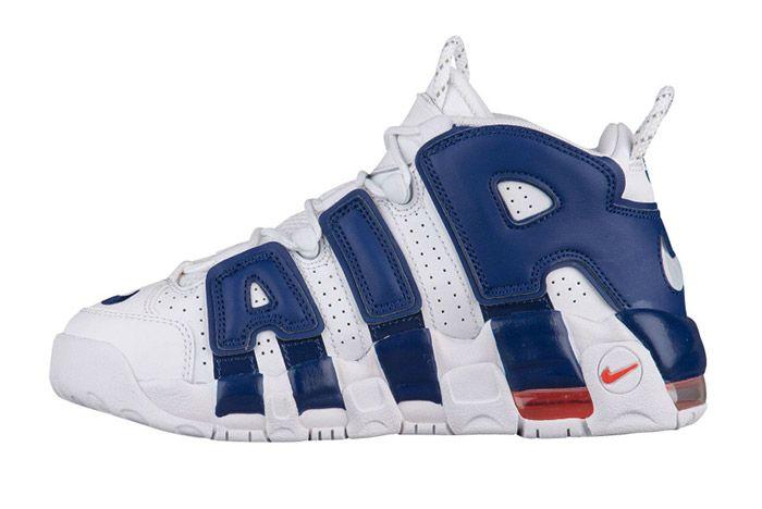 Nike Air More Uptempo White Blue Knicks 5