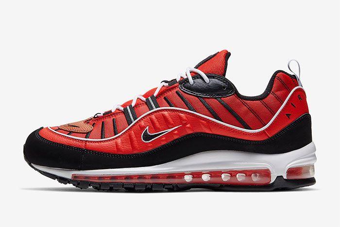 Nike Air Max 98 Red Black Left