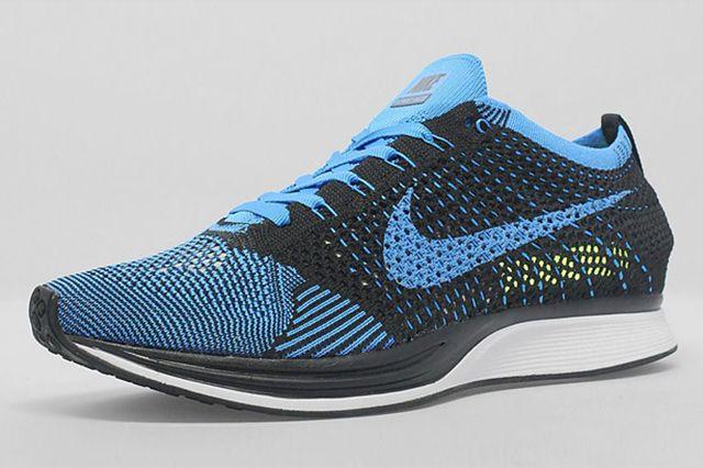 Nike Flyknit Racer Black Photo Blue