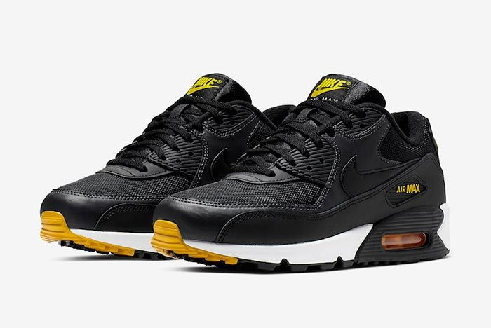 Nike Air Max 90 Black Yellow White Pair