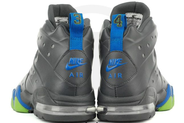 Nike Air Max Barkley Dark Grey Photo Blue Green Heels Bubbles 1