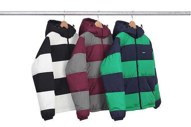 Reversible Striped Winter Jackets Rack 1