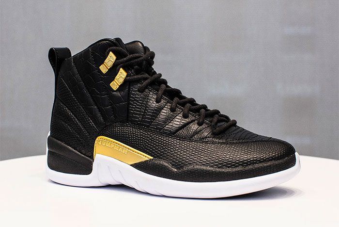 Air Jordan 12 White Black And Gold Release Date Side Shot 2