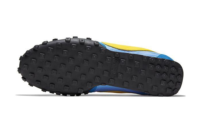 Nike Waffle Racer University Blue Battle Blue Black Amarillo Cn5449 400 Release Date Outsole