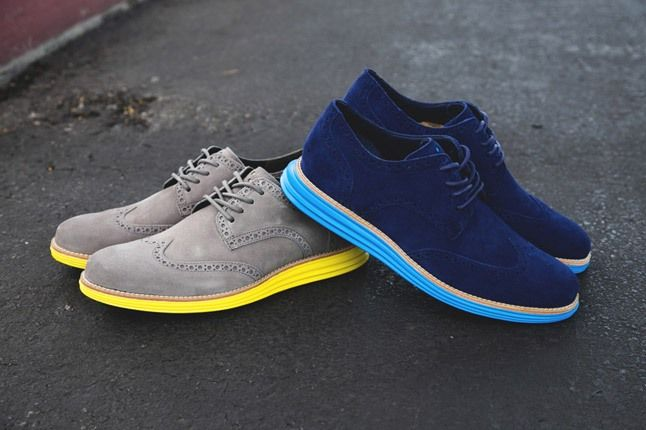 Cole Haan Lunargrand Wingtip Ss13 Grey Blue Hero