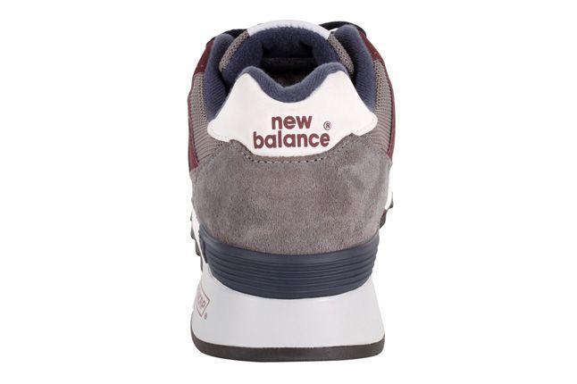 New Balance 577 Grey Burgundy Heel 1