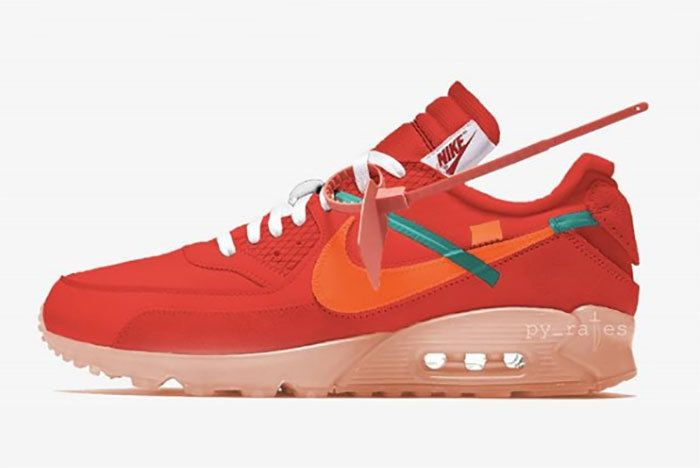 Nike Off White Air Max 90 University Red